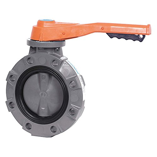 Lever Butterfly Valve : Hayward series byv butterfly valve lever operated pvc