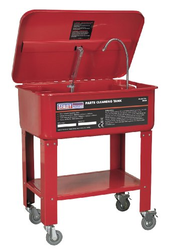 Sealey SM28 Mobile Parts Cleaning Tank, 50 Liter