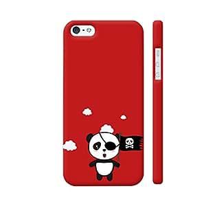 Colorpur Pirate Panda With Flag Artwork On Apple iPhone SE Cover (Designer Mobile Back Case)   Artist: Torben