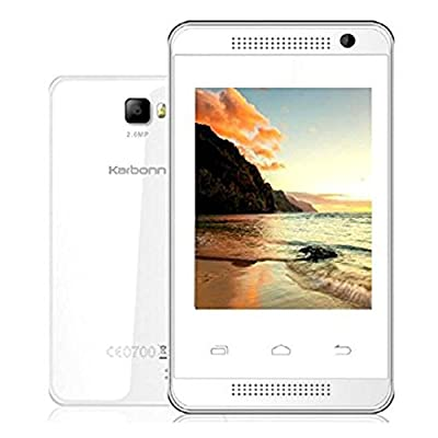 Karbonn Alfa A104 Android Mobile Phone with 2.8 inch screen (White)