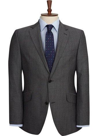 Austin Reed Contemporary Fit Grey Pinhead Jacket LONG MENS 44