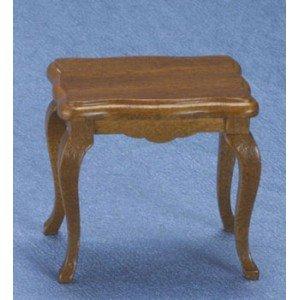 Dollhouse Walnut Victorian Lamp Table - 1