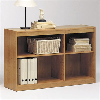 "Tvilum-Scanbirk 65050-54 Classic Soft 30"" H Double Shelf Bookcase Finish: Light Cherry"