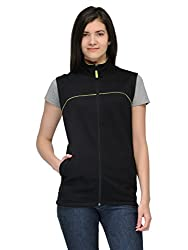 Scott Sleeveless Jacket Women's withzip BlackFBA ljslv4m