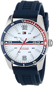 Tommy Hilfiger Men's 1790918 Casual Sport 3-Hand Navy Silicone Strap Watch