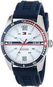 (新品)Tommy Hilfiger汤米男式休闲运动1790918Navy Silicone Strap Watch $65.53