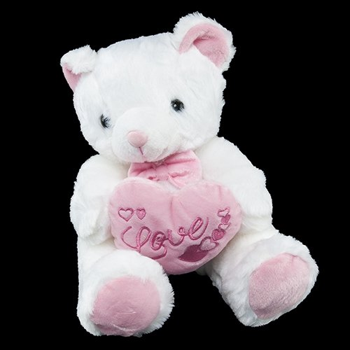 White Bear with Pink Heart