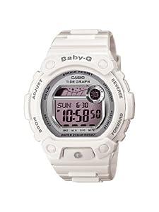 Casio Ladies BLX103-7 Baby-G White Resin G-Lide Digital Mirror Dial Sport Watch by Casio