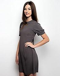 XnY Women's Dress (DR 1020001 B_Grey_8)