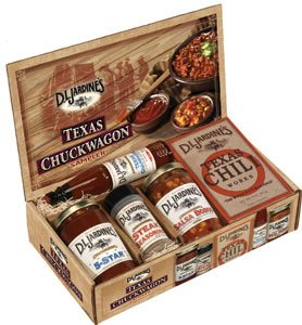 BBQ Gift Set-this Chuckwagon BBQ Set Contains Texas Chili Works (1 Pack), Salsa Bobos (8oz Jar), 5-star BBQ Sauce (8oz Jar), Steak Seasoning (2.75oz Jar), Texas Champagne Hot Sauce (3oz Bottle), See All of Dad's Jerky Products
