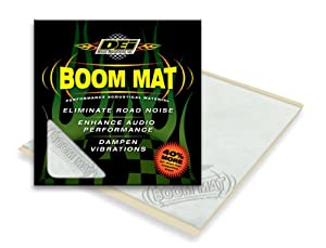 "DEI 050200 Boom Mat 12"" x 11.5"" Sound Deadening Sheet, Pack of 2"