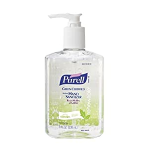 PURELL 9691-12 Advanced Green Certified Instant Hand Sanitizer, 8 fl. oz. Pump Bottle (Case of 12)