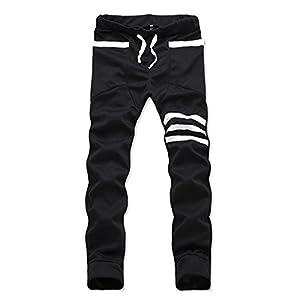 Magiftbox Men's Slim Fit Harem Jogging Sports Stripe Pants K99