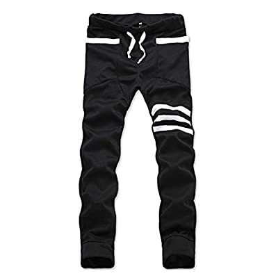 Magiftbox Men's Slim Fit Harem Jogging Sports Stripe Pants K99