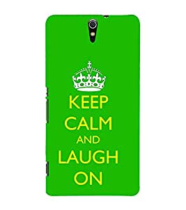 Good Quote on laugh 3D Hard Polycarbonate Designer Back Case Cover for Sony Xperia C5 Ultra Dual :: Sony Xperia C5 E5533 E5563