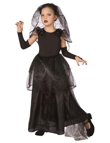 Light Up Dark Bride Child Med Kids Girls Costume