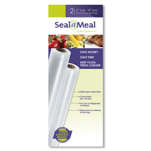 Seal-A-Meal 11-Inch by 9-Foot Rolls, 2pk (Food Vacuum Seal compare prices)