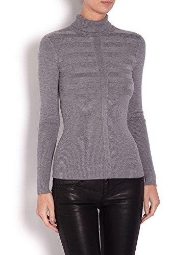 Morgan - 132-Mentos, Maglia a maniche lunghe , manica lunga, collo alto da donna, grigio(gris (gris chine clair)), XS