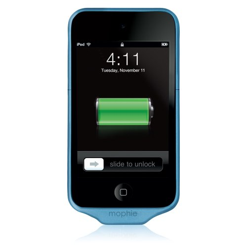 Mophie Juice Pack Air Case and 1000 mAh Rechargable Battery for iPod Touch 4th Gen (Blue)