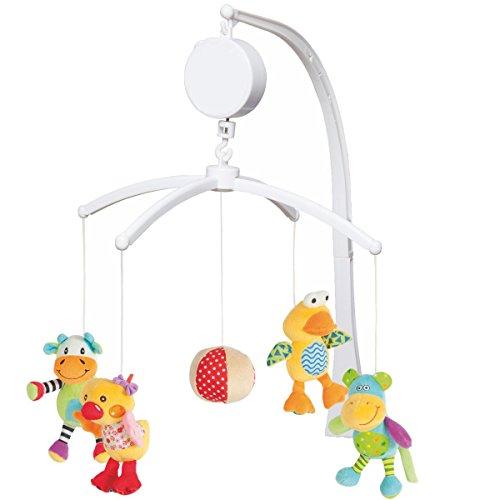 Musikmobile Baby Mobile Spieluhr Musikuhr Einschlafhilfe für Kinderbett 4 verschiedene Modelle (Verschiedene Tiere)