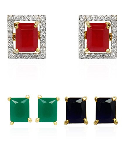 Youbella-Gold-Plated-Multi-Colour-6-In-1-Interchangeable-Stud-Earrings-For-WomenGirls