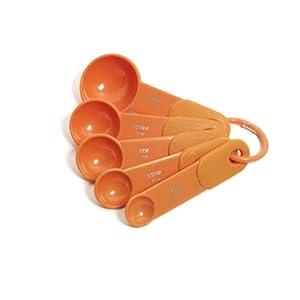 KitchenAid Classic Set of 5 Measuring Spoons, Tangerine by KitchenAid