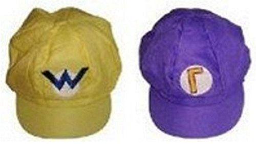 Super Mario Series Cosplay goods (Wario & Waluigi Style Cap Yellow & Purple) (Robot Vacuum Mario compare prices)