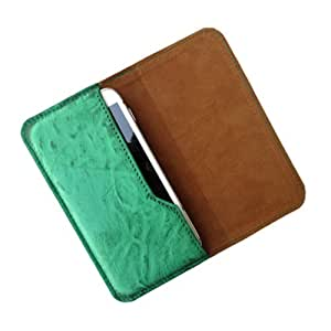 i-KitPit : PU Leather Flip Pouch Case Cover For Lava iris 506Q (GREEN)