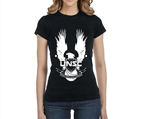 Jackyeah A0374 UNSC Halo 100% Cotton Womens Slim Fit T-shirt Custom T Shirt