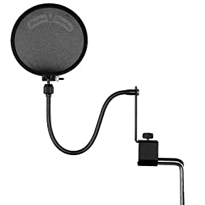 Shure Popper Stopper Pop Filter with Metal Gooseneck and Heavy Duty Microphone Stand Clamp