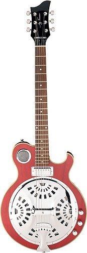 Jay Turser Resonator Guitars Jt-Res-Str Electric Guitar, See-Thru Red