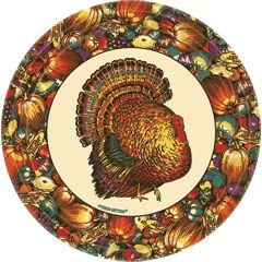 Fall Autumn Turkey 7 Inch Paper Plates