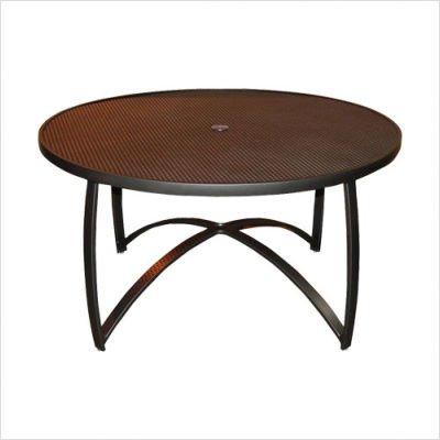 Wyatt Mesh Top Round Umbrella Coffee Table Finish: Tuscan Sand