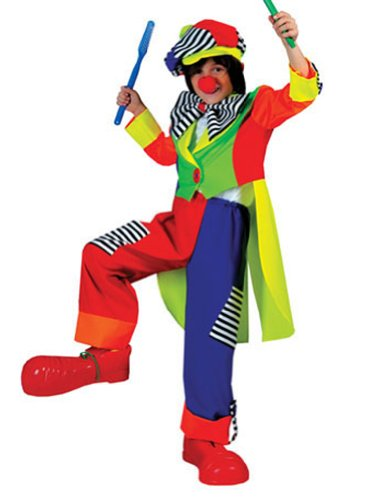 Spanky Stripes Clown Boys Lg Kids Boys Costume