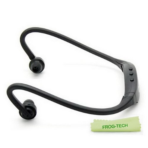 Frog-Tech Colorful Sports Wireless Bluetooth Headset Headphone Earphone For Iphone 4 ,Iphone 4S Samsung S3 S4,Etc (Black)