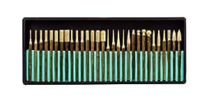SE 82331TF 30-Piece Set of Titanium-Coated Diamond Burrs, Grits 120-150