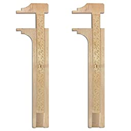 Sliding Brass 100 Millimeter Gauge for Measuring Beads and Jewelry (Set of 2)