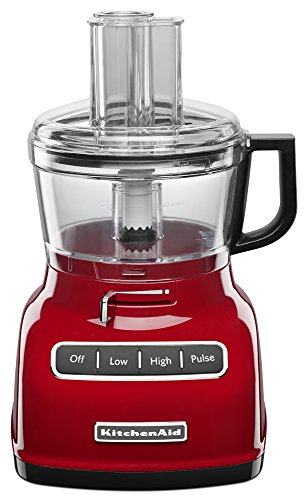 KitchenAid KFP0722ER 7-Cup Food Processor with Exact Slice System, Empire Red