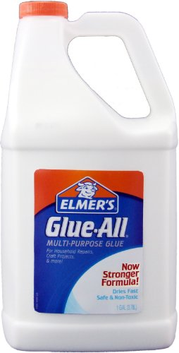 Elmer's E1326 Glue-All White Glue, Repositionable, 1-Gallon