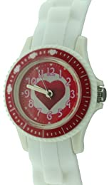 Citron Children's Quartz Watch with Multicolour Dial Analogue Display and White Silicone Strap KID125