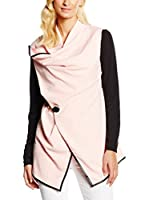 William de Faye Chaqueta Gilet Col Chale Bi-Couleur (Rosa / Negro)