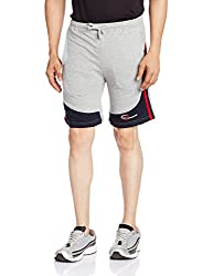 Chromozome Mens Cotton Shorts (8902733319652_S-5427 UV Navy with Grey S)