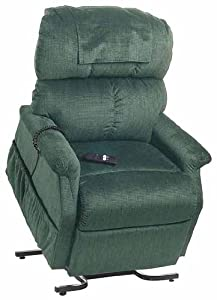 Electric Power Recline 3 Position Riser Lift Chaise Easy Motion Recliner Chair - PR-501L Comforter Large 375lb Capacity by Golden Technologies Evergreen Fabric