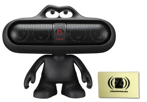 Beats By Dr. Dre Pill 2.0 Portable Speaker (Black) Bundle With Beats Pill Dude (Black) And Custom Design Zorro Sounds Cleaning Cloth