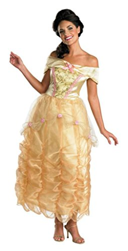 Disguise Womens Disney Princess Belle Beauty Beast Deluxe Halloween Costume