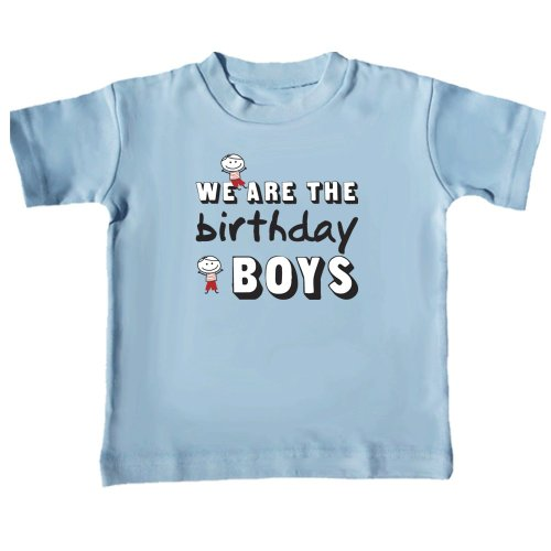 Twin Birthday Boys T-Shirts (Includes 2 T-Shirts - Size 12-18 Months)