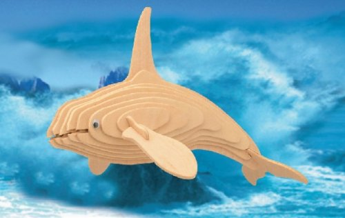 Picture of Fun Puzzled Killer Whale 3D Natural Wood Puzzle (B004MQ9UVI) (3D Puzzles)