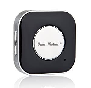 Bear Motion Bluetooth Wireless Receiver, Bluetooth headset Adapter for Portable Speakers , Headphones , Home and Car Stereo Music Systems