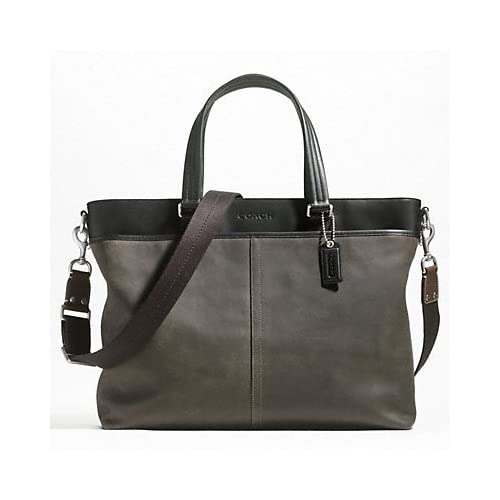 Amazon.com: Coach Brown Suede Leather Briefcase, Tote, Laptop Bag