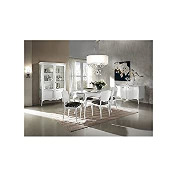 Oval Table 160 All Modern White Lacquered Solid Wood X Room Living Room – As Photos White and Ivory